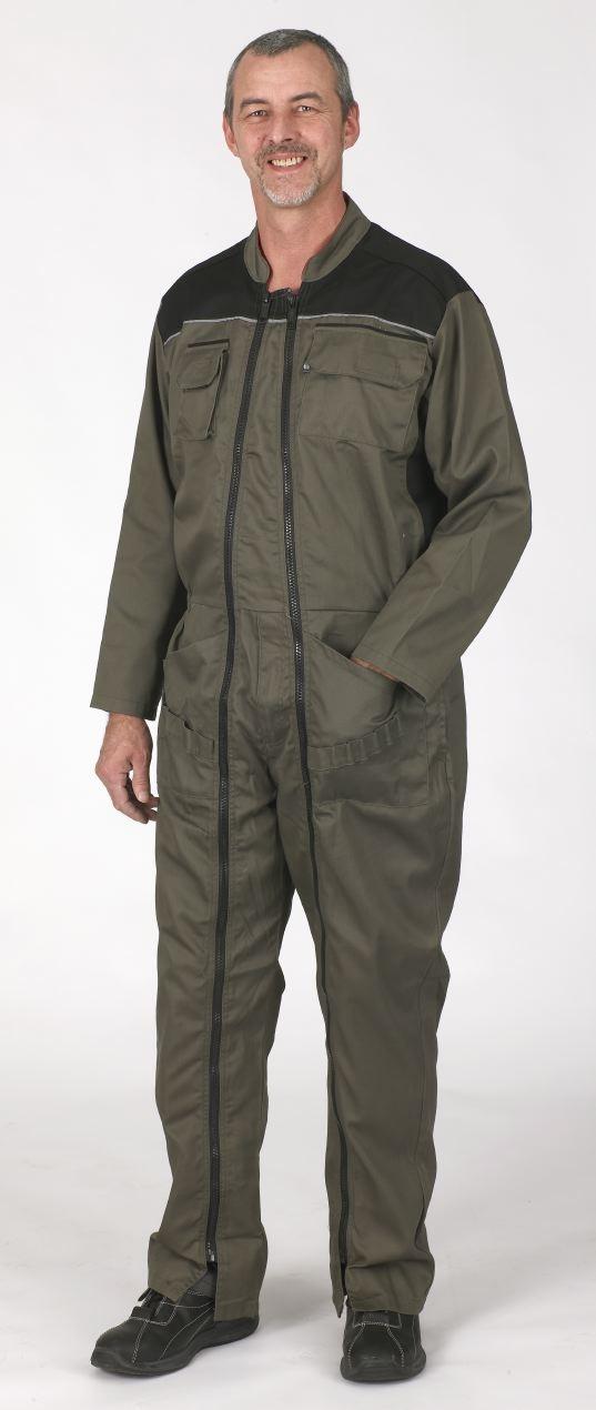 Combinaison de travail latorche workwear 2 zips Havane/Noir