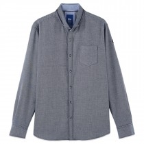 Chemise homme manches longues marine