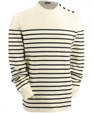 Pull galiote ecru Navy saint James